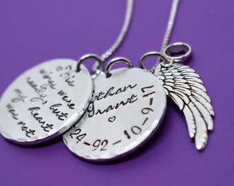Memorial jewelry - Memorial Jewelry Dad - His wings were ready Remembrance Necklace - Sympathy gift - Memorial Necklace