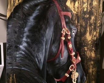 Baroque Friesian Horse