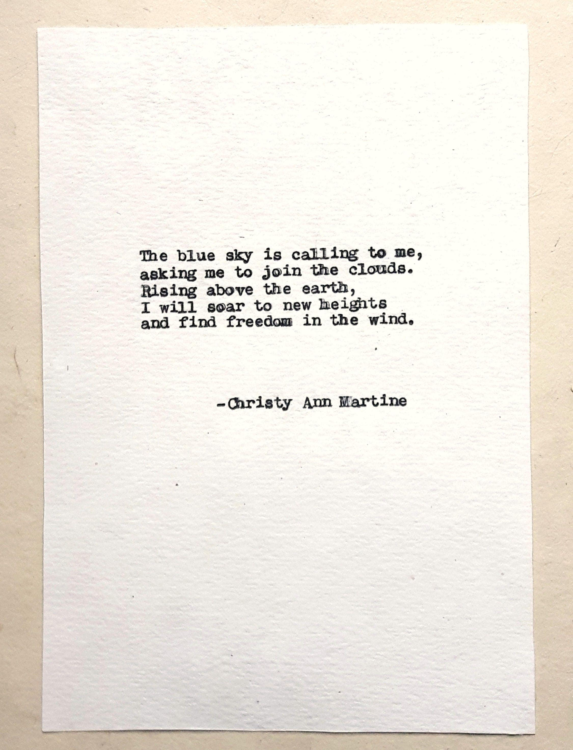 Poet Quotes Typewritten Poems Vintage Typed Anitque Typewriterpoet Poem