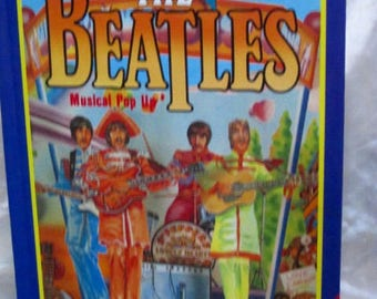 Beatles Popup Book 1985, SUMMER of LOVE.Psychedelic Era, Sergeant Pepper's Band, Vintage Beatles Book, Fab 4, British Band