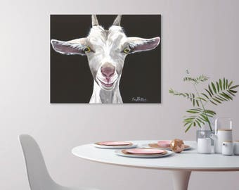 Goat on Canvas Art, Goat Print,  Goat art print from original canvas goat painting, Goat art on canvas