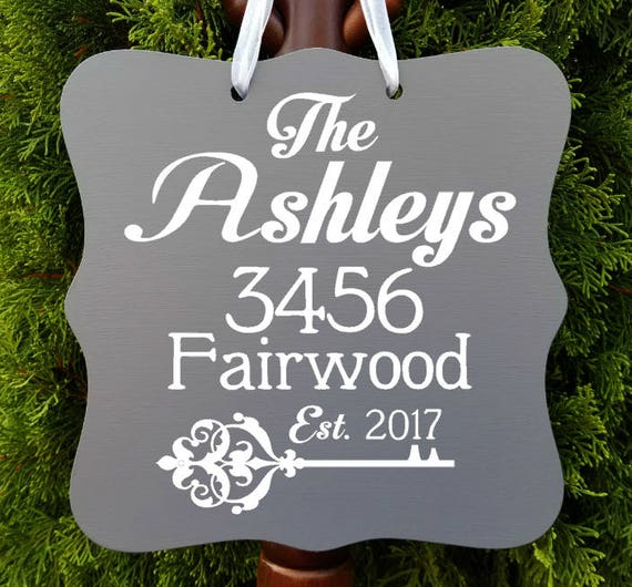 Home Address Sign, Farmhouse Sign, Personalized, Last Name, Housewarming, Welcome Sign, Home Decor, Door Hanger, Home Address Plaque