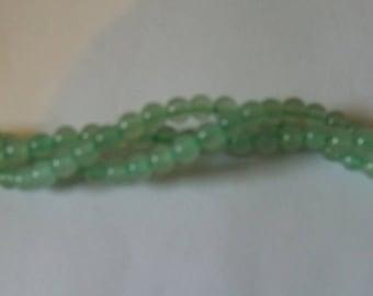 4mm x 45 Natural Green Aventurine Loose Semi- Precious Gemstones Round