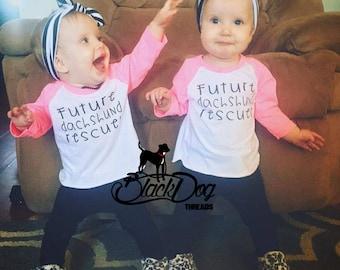 Dachshund Shirt for Kids, Dachshund Rescuer, Dog Shirt For Kids, Dog Shirt for Baby, Dog Rescue Shirt, Dog Adoption Shirt, Dogs and Kids Tee