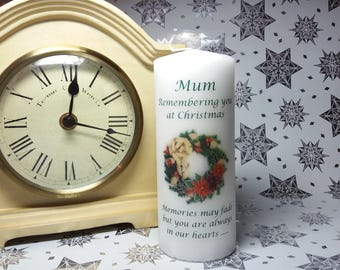 Christmas Memorial candle - any relative or name
