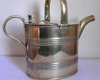Antique Brass Watering Can Water Can or Hot Water Carrier Joseph Sankey