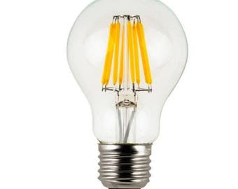 Vintage Industrial Edison Style LED Filament Medium Base Light Bulb 6 Watts Dimmable Soft Warm 2700K
