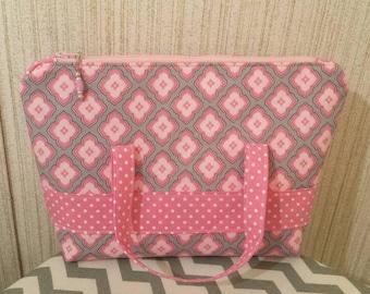 Cute pink cosmetic bag