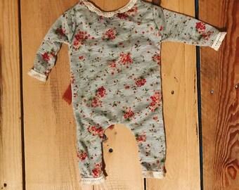 RTS Sweet Fall Bouquet ROMPER Newborn Photography Prop. Newborn, SITTER 6 Months