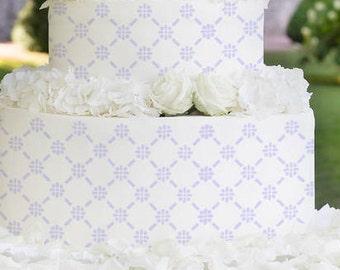 Cake Stencils- Square Floral Pattern Stencil, Birthday Cake, Wedding Cake, Celebration Cake, Washable, Reusable, Dishwasher Safe, Food Safe