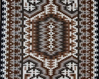 Native American, Extra Fine, Navajo Two Gray Hills Weaving, by Teresa Begay, #1154