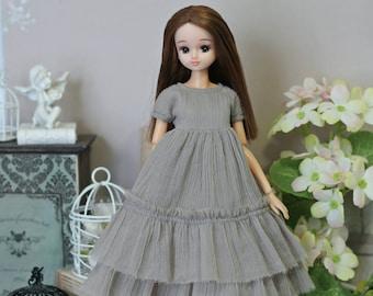 BOHO Dress for Blythe, Barbie, Azone pure neemo L/M/S/XS, Momoko, Obitsu 24/25, Monster High/EAH, MC2 dolls  1/6 size
