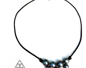 Freshwater Pearl and Leather Choker