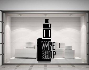 Vape Shop. Electronic Cigarette, Wall/Window Shop art, vinyl decal sticker. Various colours and size options.(#178)