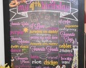 Digital or Printed | Tangled | Rapunzel Chalkboard Sign | Birthday Party | Customizable | Girl