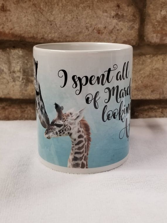 April The Giraffe Coffee Mug, Giraffe Mug, Baby Giraffe, Giraffe Lovers Gift, Coffee Mug, Giraffe Watch Mug, Giraffe Love, Animal Mug