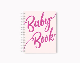 Baby Memory Book, Custom Baby Book, Foil Baby book, Baby Shower Gift, Rose gold baby book,First Year Baby Book, Pregnancy Book