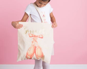 Ballet Bag - Ballerina Tote Bag - Dance Recital Gift - Dance Bag - Ballet Dancer - Personalized Ballet Bag -Personalized Dance Bag - Ballet