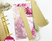 PERSONAL SIZE planner custom divider set : personalize dashboards / page markers / gold foil / glitter options