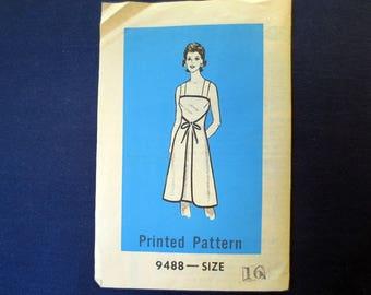 1970s Wrap Dress, Tie Front, Uncut Vintage Pattern, Mail Order 9488, Size 16, Bust 38