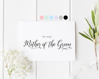 Mother Of The Groom Card, To The Mother Of The Groom, To My Mom On My Wedding Day, Mum In Law Card, Card For Mother In Law, Mom Wedding Day