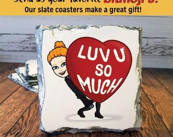 Bitmoji Coasters, Bitmoji,  Bitmoji Gift, Bitmoji Coasters, Coaster, Bitmoji Gifts