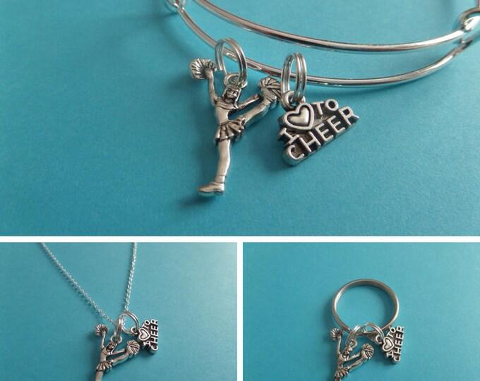 Cheerleader necklace, cheerleader gift, love to cheer, novelty gift, cheer jewelry, cheer necklace, xmas gift, cheer gift, sandykissesuk