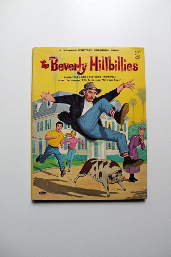 Rare The Beverly Hillbillies Coloring Book 1963