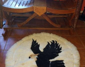 Alpaca rug eagle design Decor