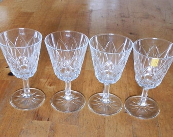 Set of Four Vintage 1970's VMC REIMS Port / Sherry / Small Wine Glasses, Made in France