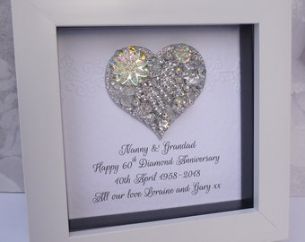 60th anniversary gift, 15th wedding anniversary gift, Crystal wedding anniversary, 60th Diamond gift, 15th Crystal gift , 60th Wedding gift