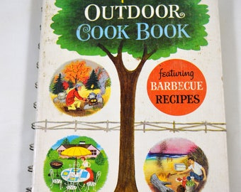 Betty Crocker's Outdoor Cook Book Feauring Barbecue Recipes 1961 Vintage 1960s Cookbook