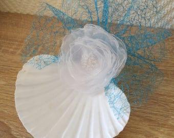 Natural Seashell ring holder , Beach Wedding Ring Bearer