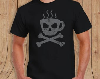 death coffee mens t-shirt - coffee shirt  - Gifts for him