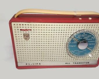 """VINTAGE BLUETOOTH SPEAKER 1960s Philips """" All Transistor"""" Vintage Bluetooth Radio"""