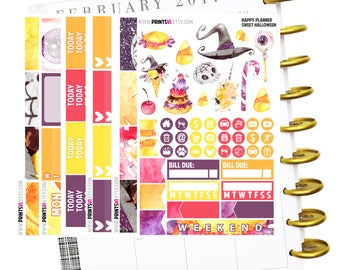 Sweet Halloween HAPPY PLANNER full kit, Planner Stickers