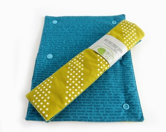 Child / Adult Reversible Padded Seat Belt Cover - Teal Text Gold Dots /Padded Strap Cover /Seatbelt Covers /Cute Car Accessories