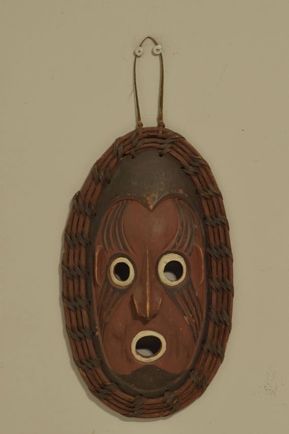 Papua New Guinea Mask Clan Spirit Mask Lower Sepik Provence Handmade Ceremonial Ancestor Mask