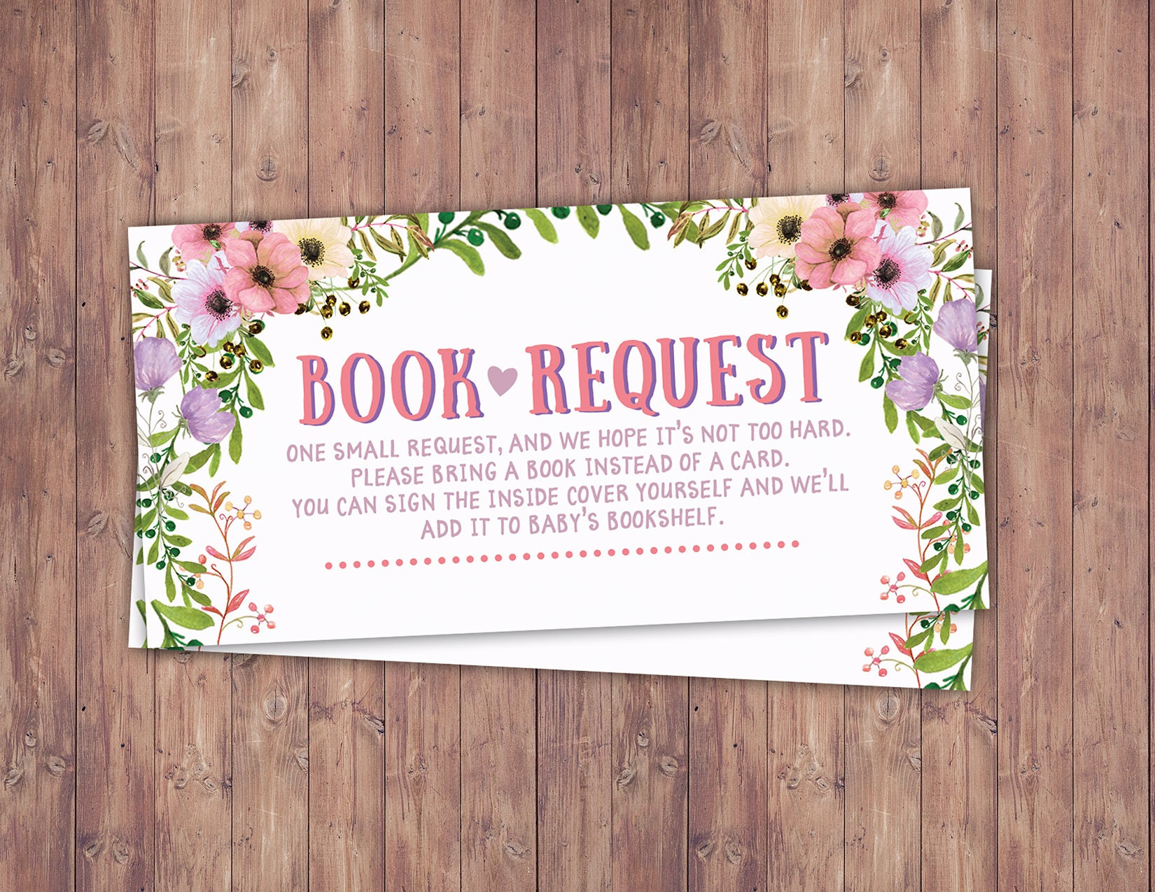 Book request Floral rustic BOHO BabyQ chalkboard couples co ed