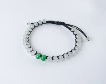 Icy Jadeite Rope Bracelet