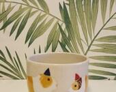 Guinea Pig ceramic pot - time to party