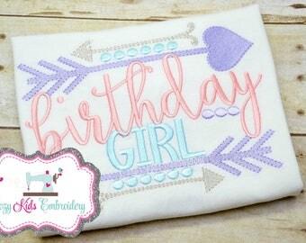 Birthday Shirt, Birthday Girl Shirt, Girls Birthday Shirt, Birthday Embroidery, Birthday Embroidery Shirt