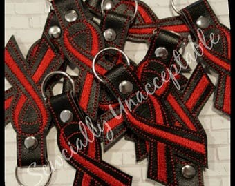 Red Ribbon Fundraiser Key Chains