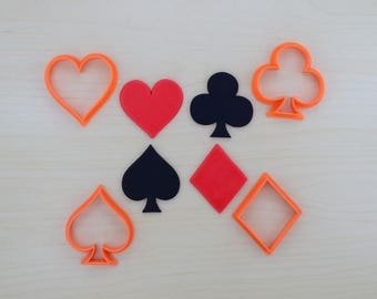 Poker Suits Cookie Cutter Set