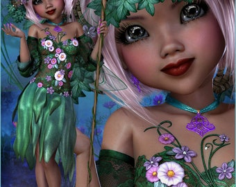 Spring Flower Fairy Graphics