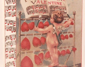 NEW! Vintage Valentine's Greeting Card by Sunrise. Single Card and Envelope.