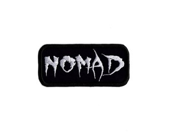 Nomad biker word patch  Iron to Sew on Badge