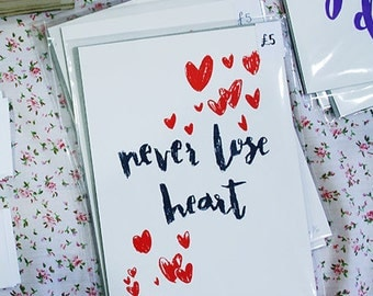 Never Love Heart | A5 Screen Print