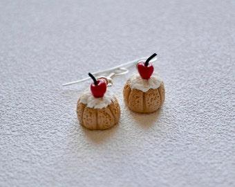 Gourmet jewelry Chocolate charlotte in earrings