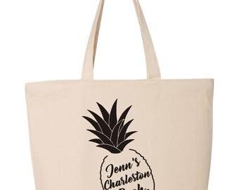 Charleston Bachelorette Tote Bag  Personalized Bachelorette Bag   Bachelorette Favor   Bachelorette Beach Bag   Bachelorette Gift